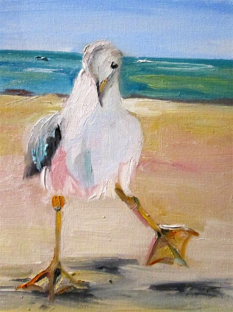 """Gull"" original fine art by Delilah Smith"