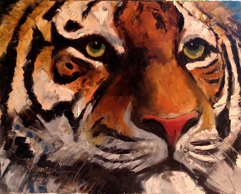 """The Tiger"" original fine art by Marcia Hodges"
