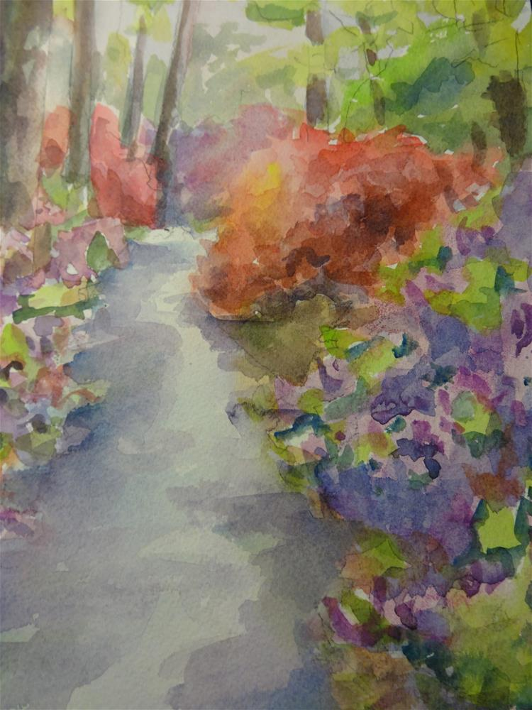 """Azalea Hill"" original fine art by angela scully"