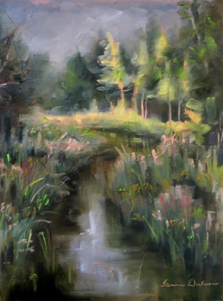 """Evening at Reibolt's Creek"" original fine art by Tammie Dickerson"