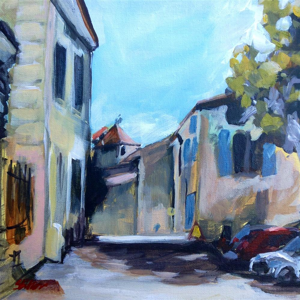 """1504 Velleron near the Chateau"" original fine art by Dietmar Stiller"