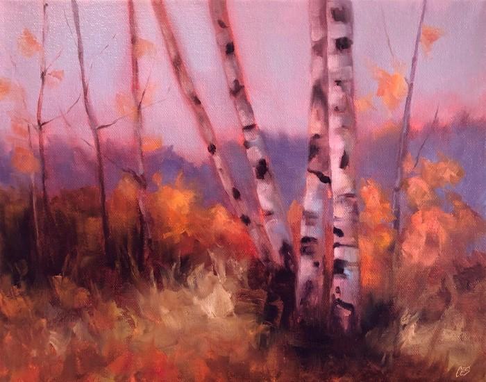 """Autumn Glow"" original fine art by Christine E. S. Code"