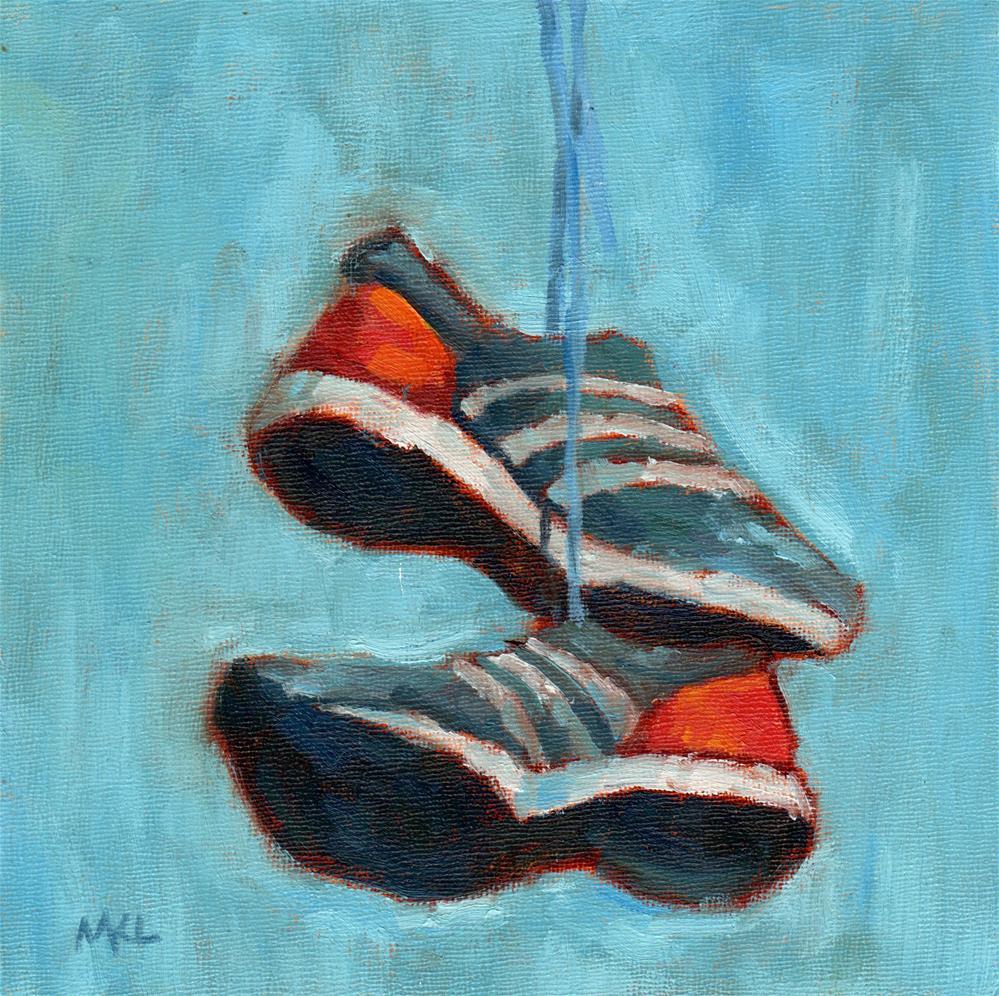 """""""Flying Shoes"""" original fine art by Marlene Lee"""