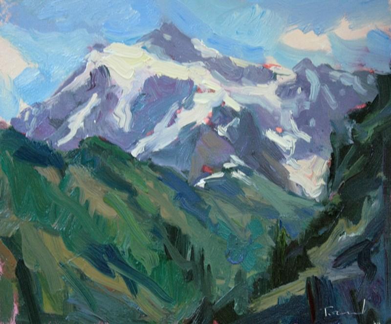 """Mt. Shuksan"" original fine art by Kathryn Townsend"