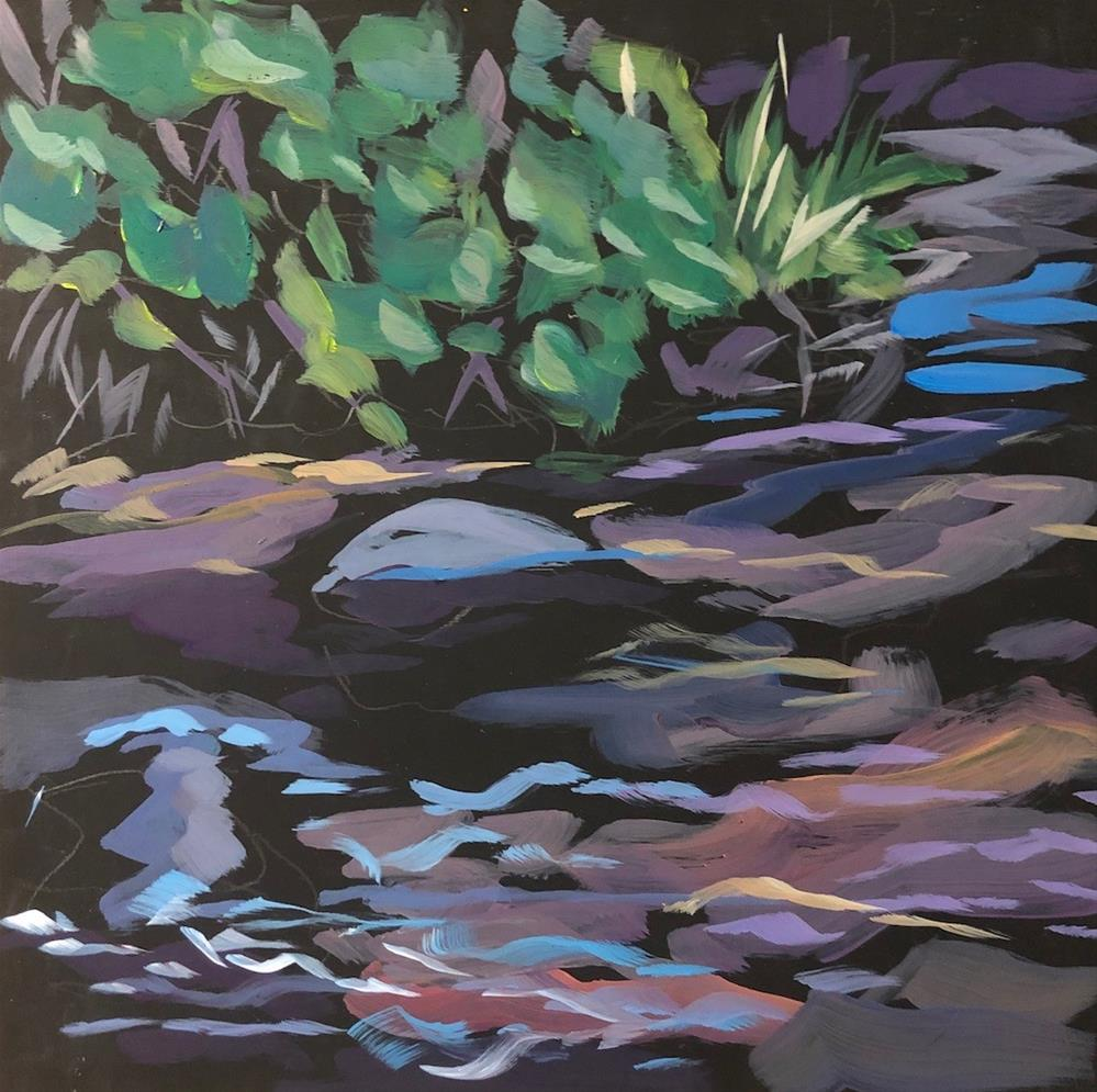 """Rocks in the Creek"" original fine art by Kat Corrigan"