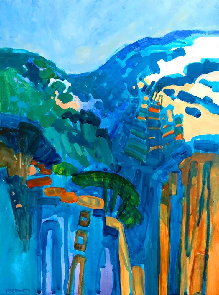 """""""Canyon Spirit, Black Diamond"""" original fine art by Nancy Roberts"""