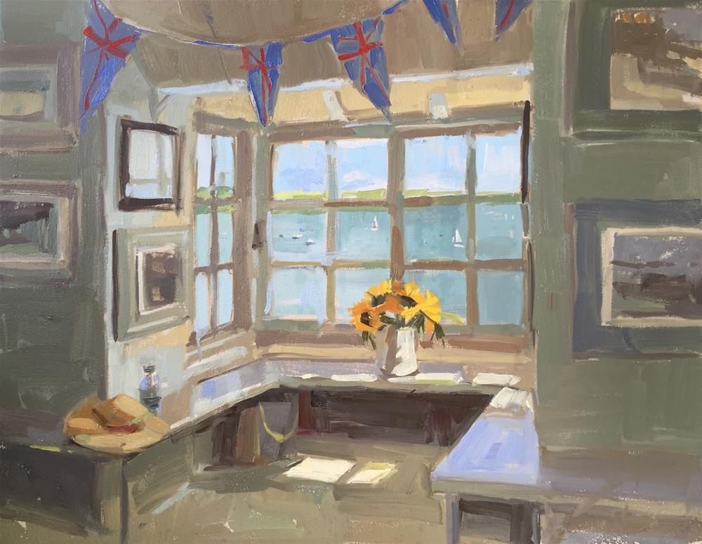 """Bay view"" original fine art by Haidee-Jo Summers ROI"