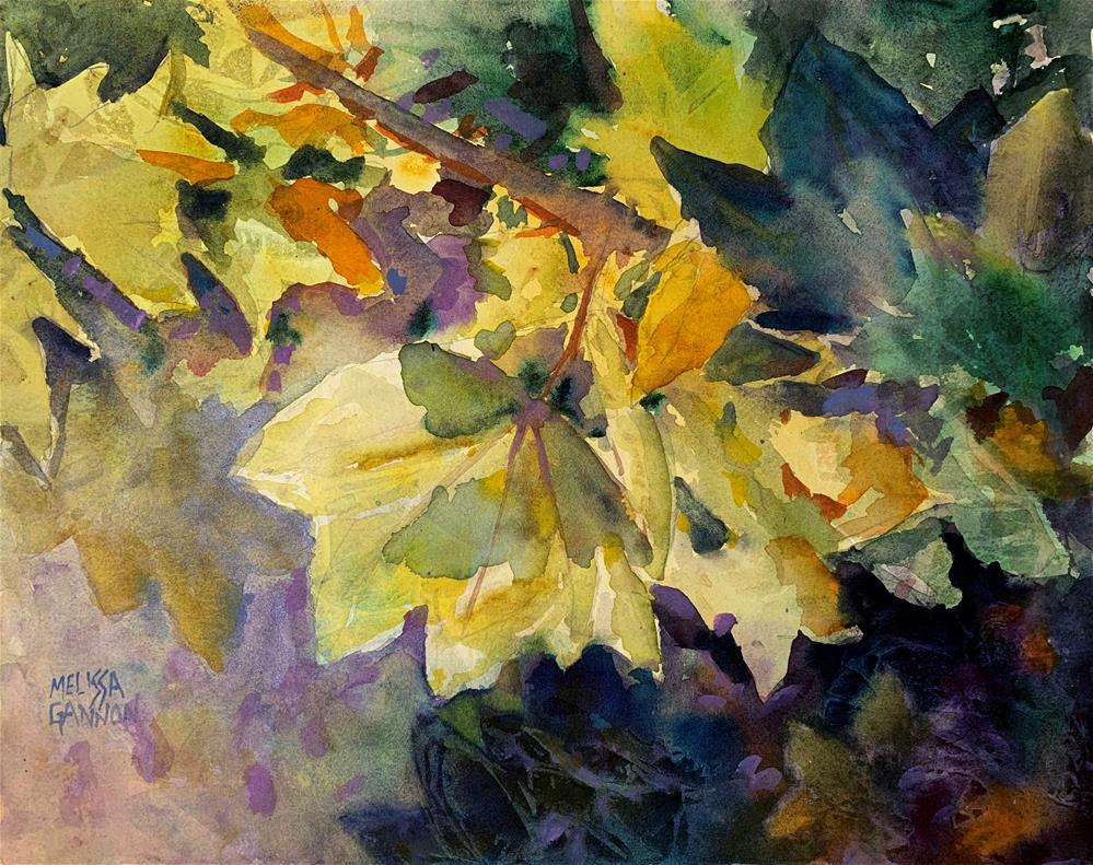 """Leaves & Greens"" original fine art by Melissa Gannon"