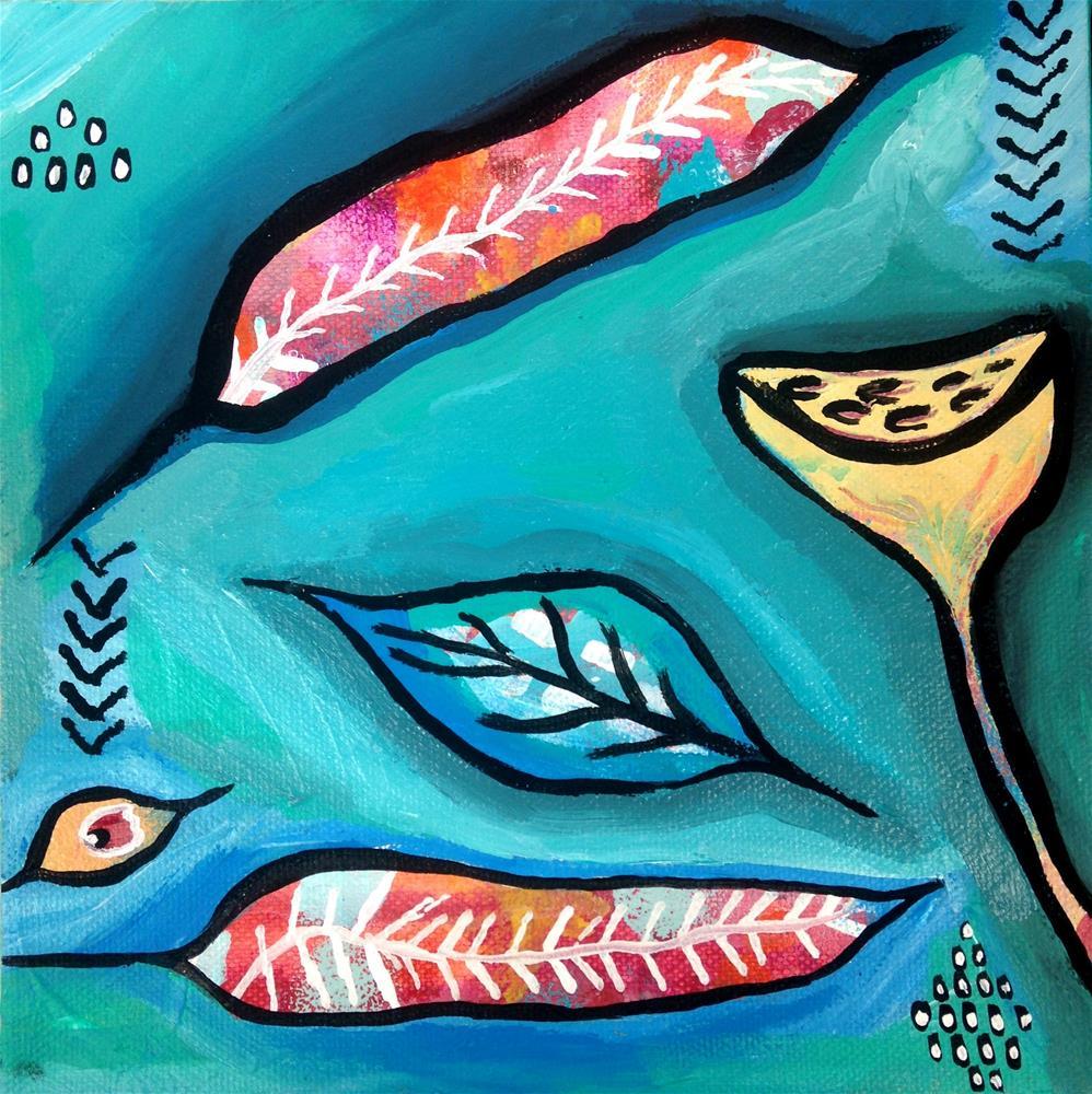 """Feathers Adrift"" original fine art by Nicole Saunders"