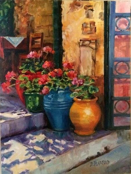 """Behind The Gate"" original fine art by Diane Plaisted"