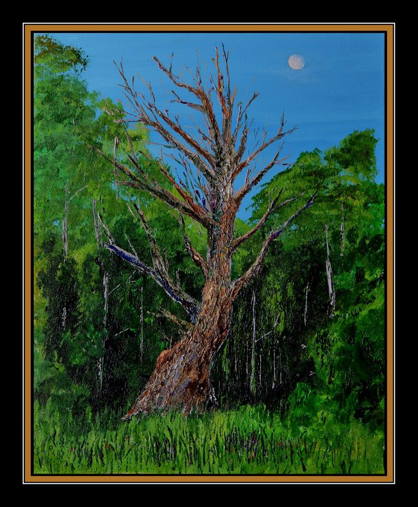 """""""Old Man and the Moon"""" original fine art by Captain B Smith"""