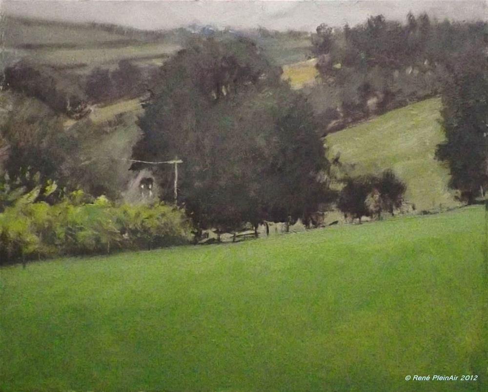 """Packing for Ireland."" original fine art by René PleinAir"