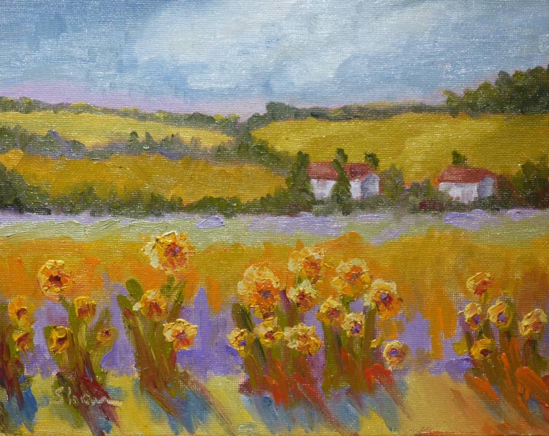 """Sunflower Farm"" original fine art by Shawn Deitch"