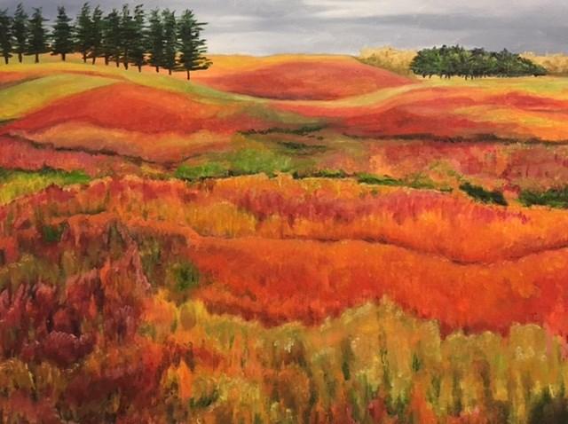"""Autumn Barrens"" original fine art by Karen Collins"