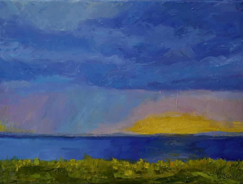 """""""'Afterglow' 12 x 16, oil on canvas"""" original fine art by Ceci Lam"""
