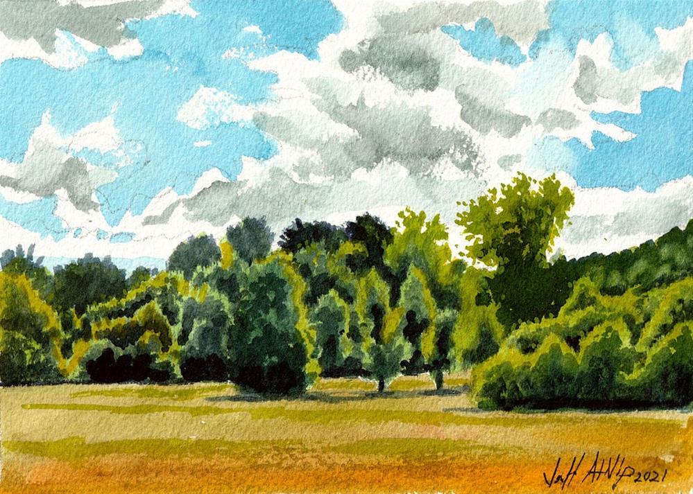 """Field and Clouds"" original fine art by Jeff Atnip"