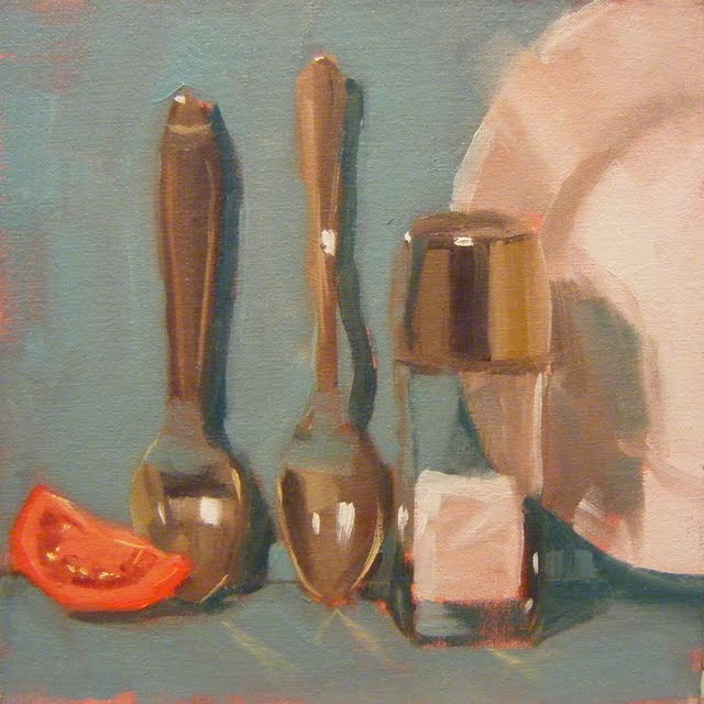 """TOMATO AND SALT"" original fine art by Helen Cooper"