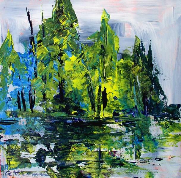 """""""Spruce Swamp"""" original fine art by Anna Vreman"""