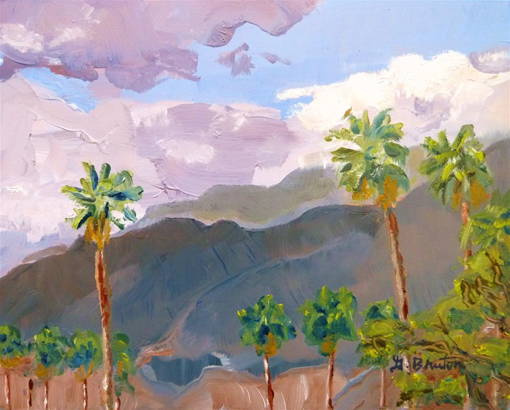 """Palm Springs, South View"" original fine art by Gary Bruton"