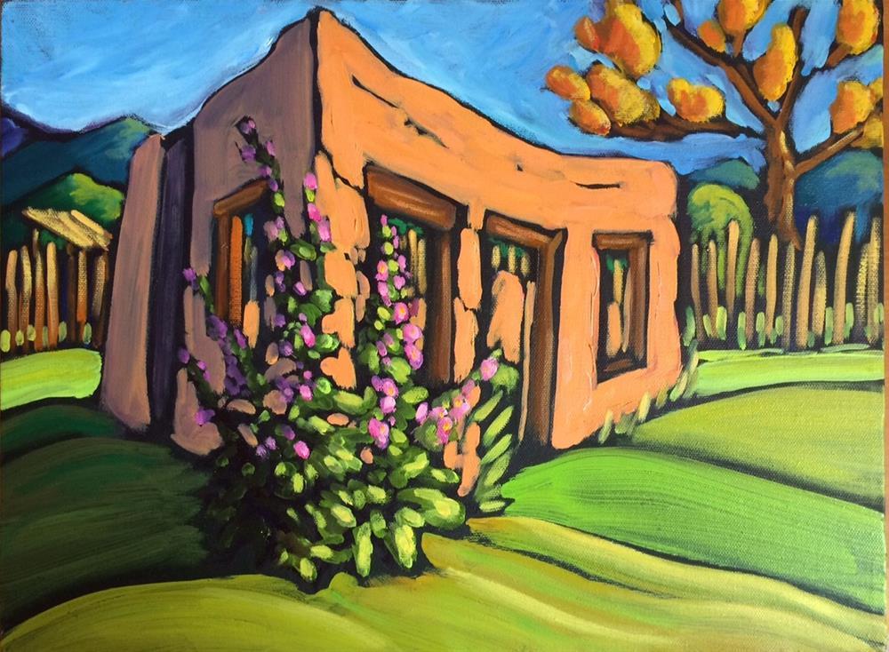 """Melting Adobe on Tom Wheeler's Ranch"" original fine art by Robyn Wellman"