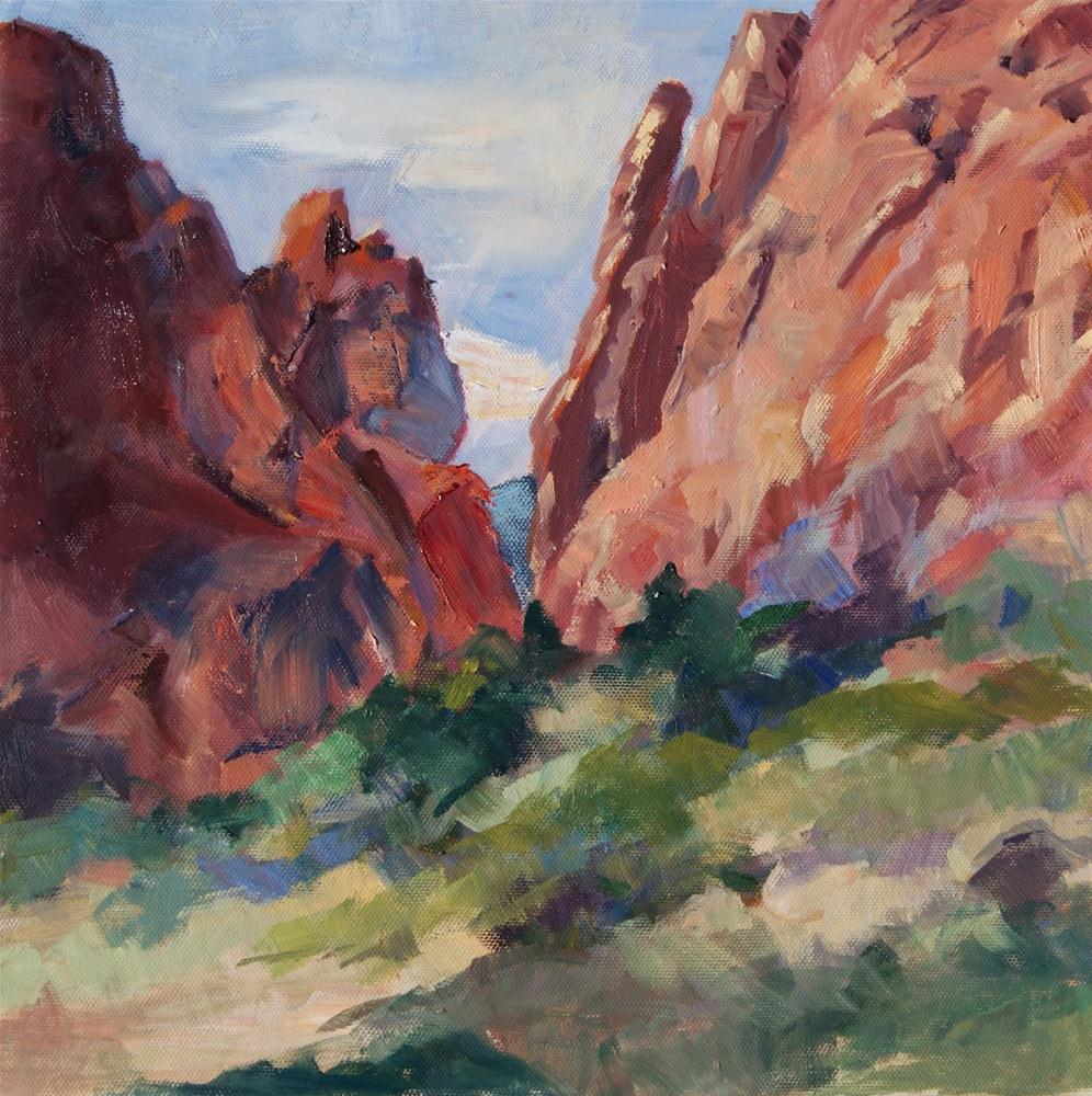 """A Naturally Beautiful Colorado Garden"" original fine art by Reveille Kennedy"