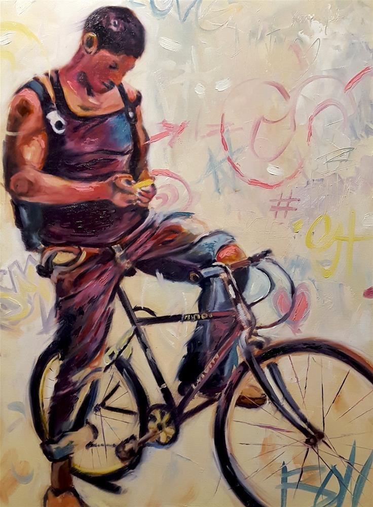 """""""Graffiti Text"""" original fine art by Karen Weber"""