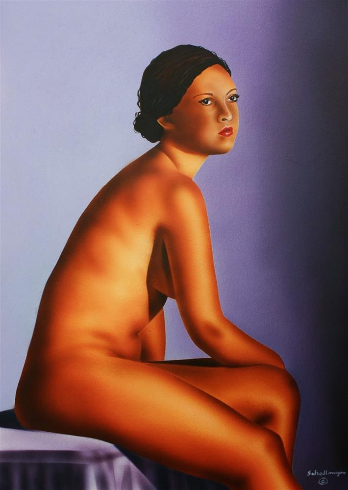 """""""Seated Nude"""" original fine art by Fred Schollmeyer"""