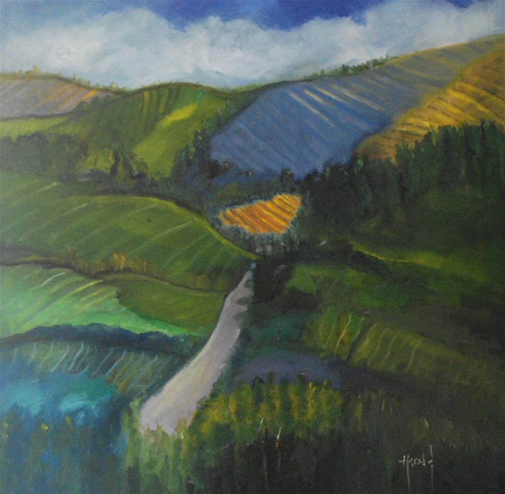 """Wine Country 2"" original fine art by Deborah Harold"