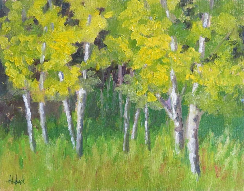"""Aspen Grove"" original fine art by Pam Holnback"