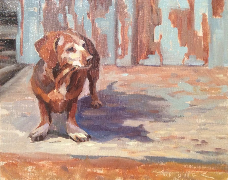 """""""Coco In All Her Glory"""" original fine art by Anette Power"""