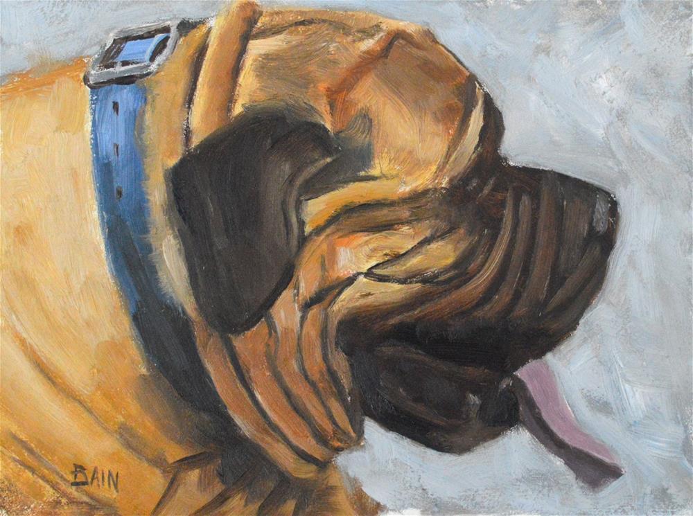 """Tawny"" original fine art by Peter Bain"