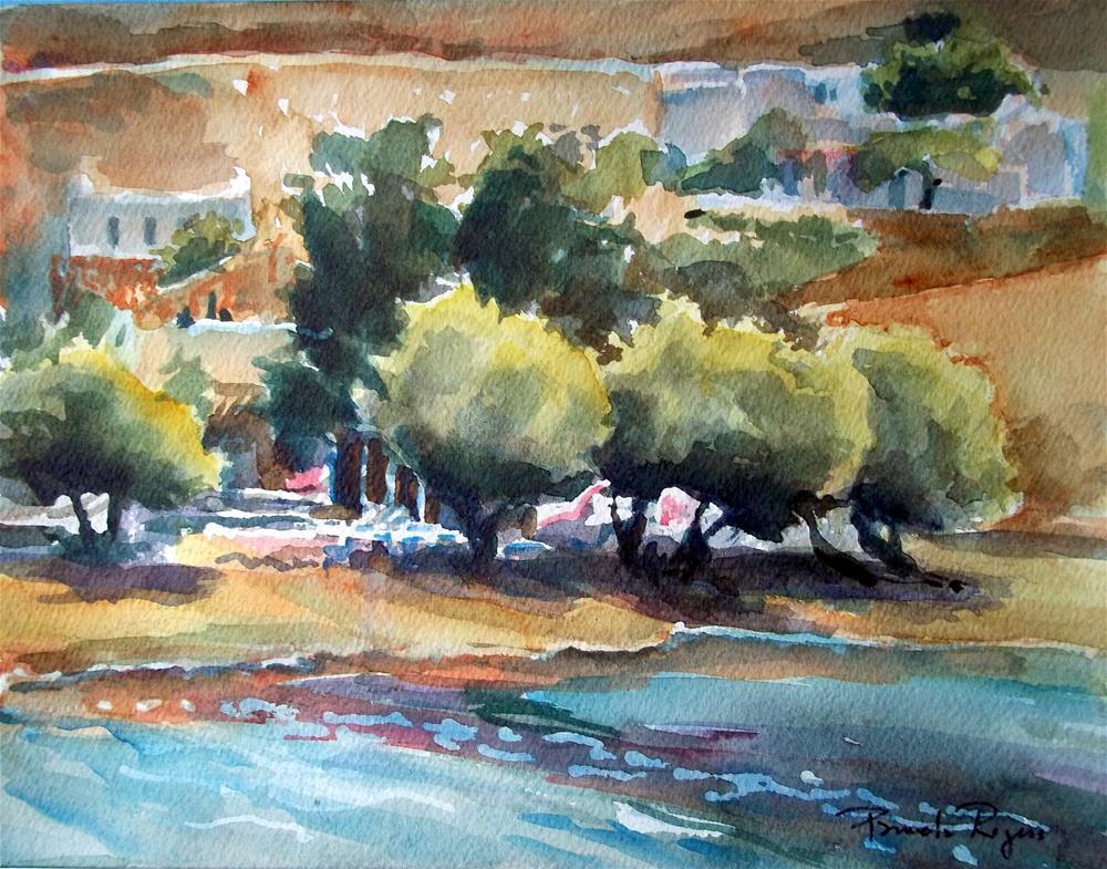 """Shoreline on Serifos"" original fine art by Pamela Jane Rogers"
