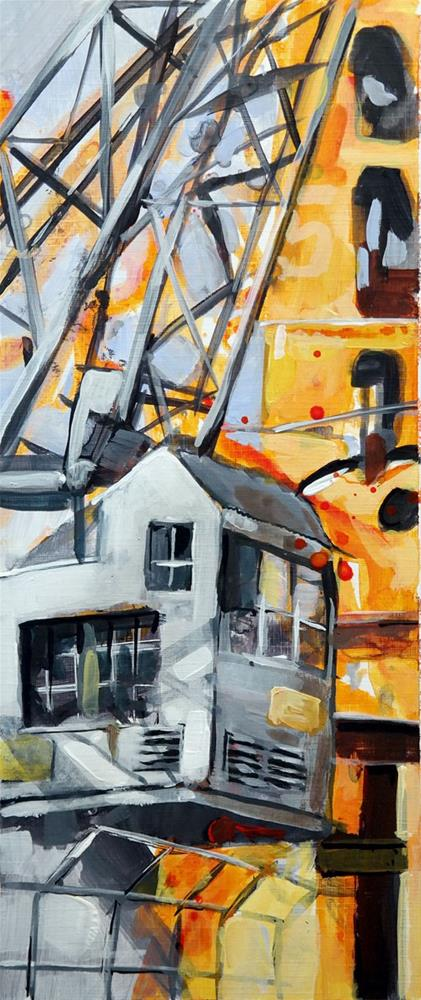 """""""2514 Crane 02"""" original fine art by Dietmar Stiller"""