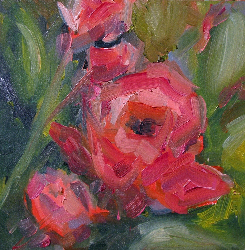 """Stewart Street Roses"" original fine art by Susan Elizabeth Jones"
