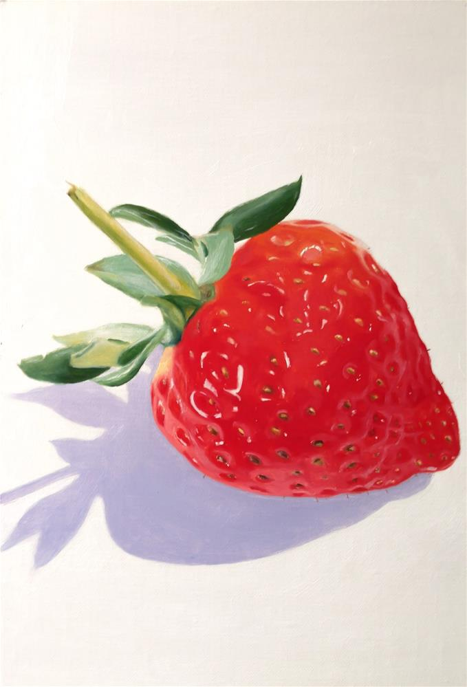 """Strawberry"" original fine art by James Coates"