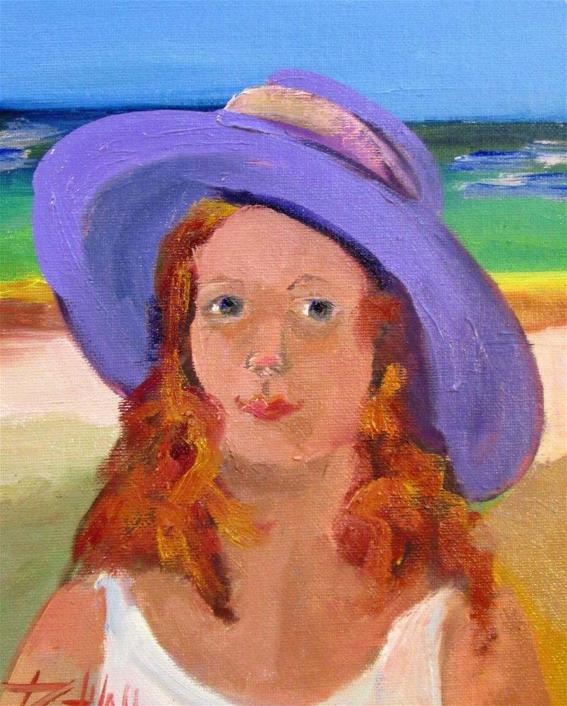 """""""Lady in a Hat No. 6"""" original fine art by Delilah Smith"""