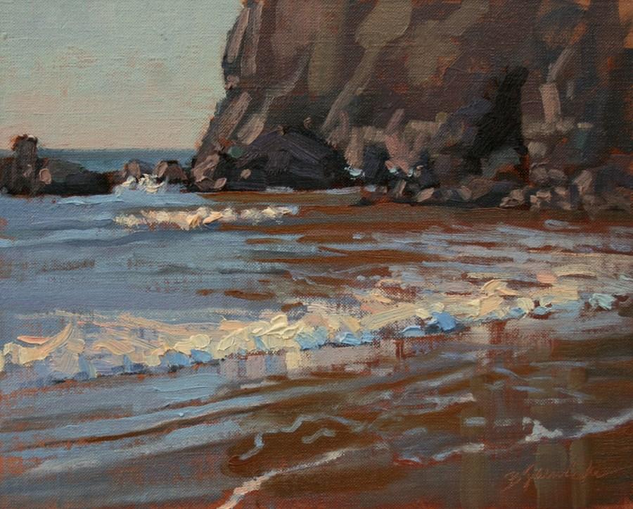 """Rocks and Ocean Study 2"" original fine art by Barbara Jaenicke"