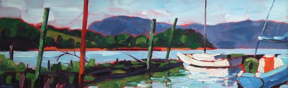 """Croton Sailboats"" original fine art by Jessica Miller"