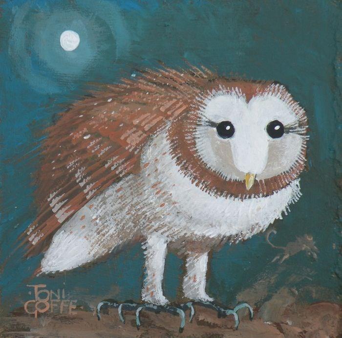 """""""Barn Owl"""" original fine art by Toni Goffe"""
