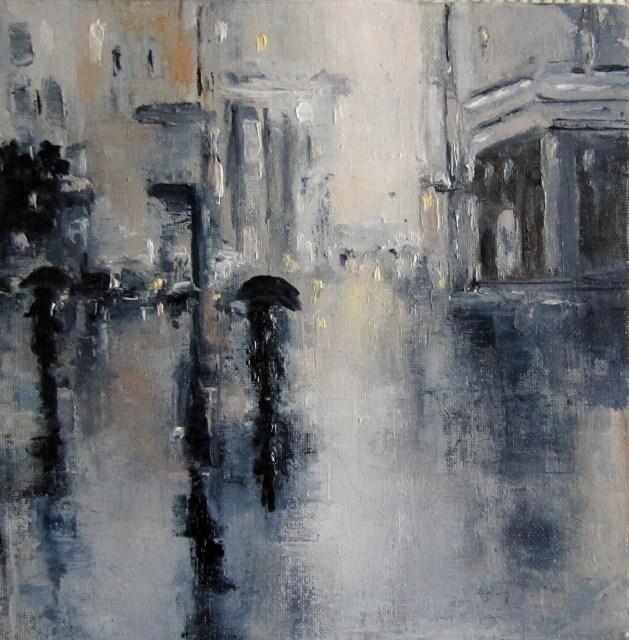 """A new rainy day"" original fine art by Astrid Buchhammer"