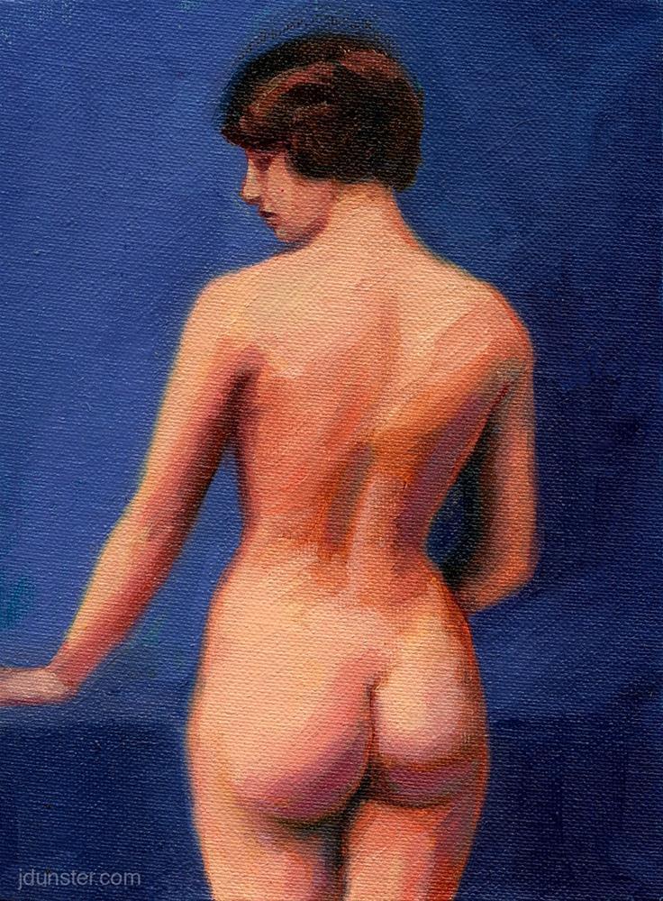 """""""Vintage Nude #1"""" original fine art by J. Dunster"""