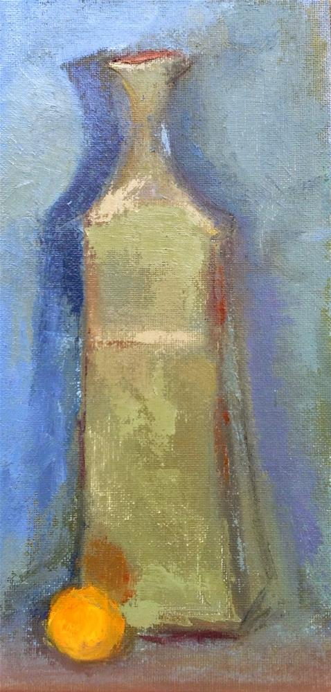 """""""Mom's Vase with Marble"""" original fine art by Carol Wiley"""