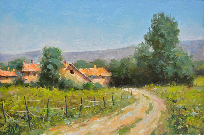 """Summer day -Tuscany, Countryside of Italy"" original fine art by Nick Sarazan"