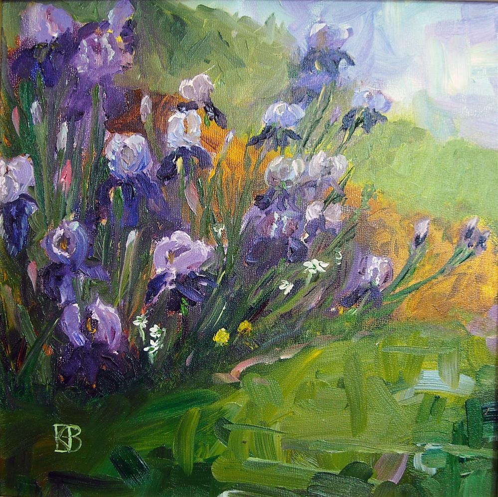 """Iris Celebration"" original fine art by Kathleen Barnes"
