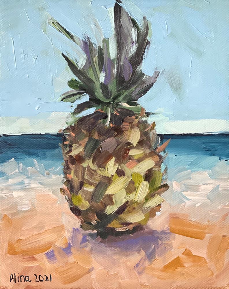 """""""Pineapple"""" original fine art by Alina Vidulescu"""