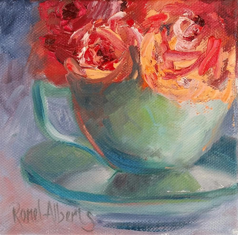 """time for tea"" original fine art by Ronel Alberts"