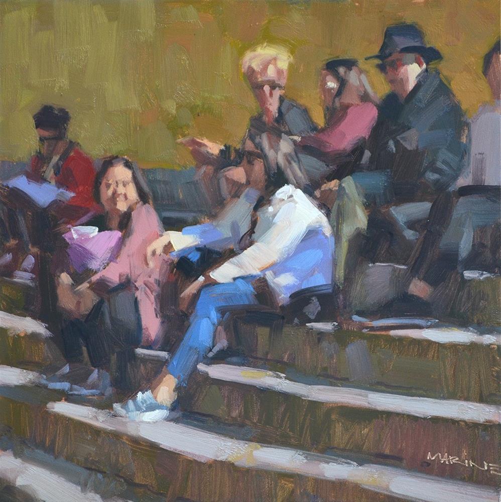"""Chit Chat"" original fine art by Carol Marine"
