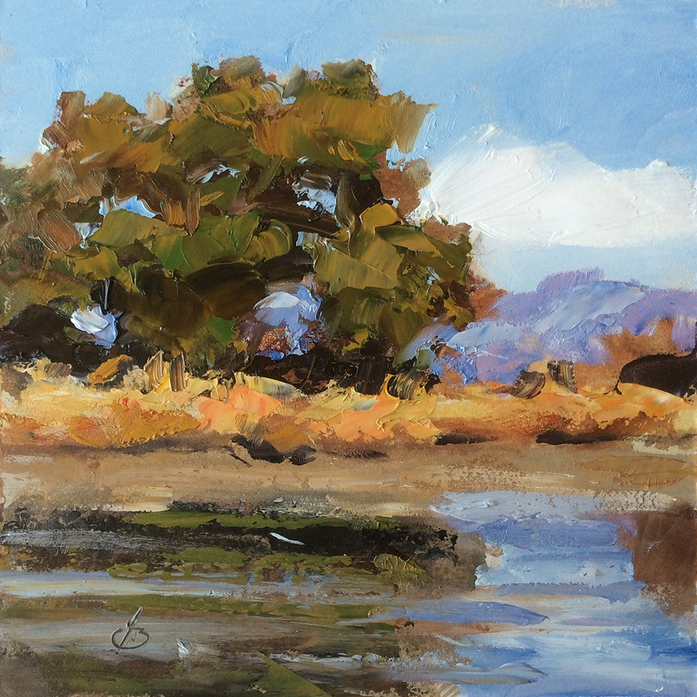 """LAKESIDE REFLECTIONS"" original fine art by Tom Brown"