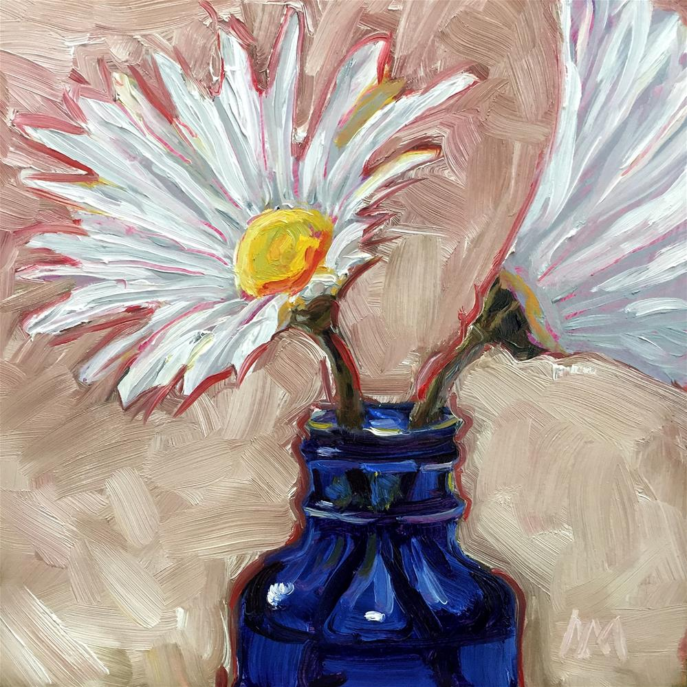 """Two Daisies "" original fine art by Austin Maloney"