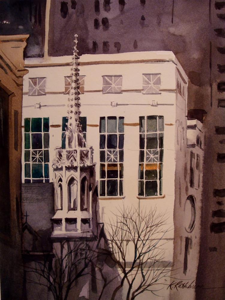 """""""Chicago Spire"""" original fine art by Kathy Los-Rathburn"""